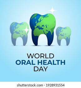World Oral Health Day. World map concept Design