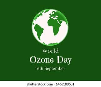 world ozone day 16 September Illustration image.
