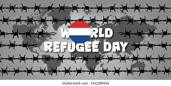World refugee day The Netherlands Dutch Holland Remembrance Slave trade  abolition Freedom Refugees Vector icon icons sign signs symbol fun funny Sea boat camp barbwire Barbed wire Batavia VOC WIC