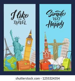 world sights flyer templates for travel agency