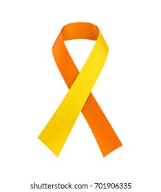 World Suicide Prevention Day Ribbon Isolated. 3D rendering