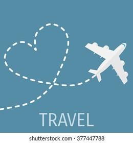 World travel and tourism concept illustration.
