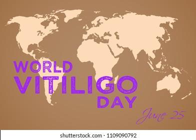 World Vitiligo Day, illustration with world map