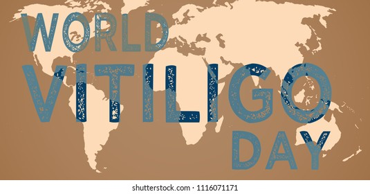 World Vitiligo Day, illustration with world map