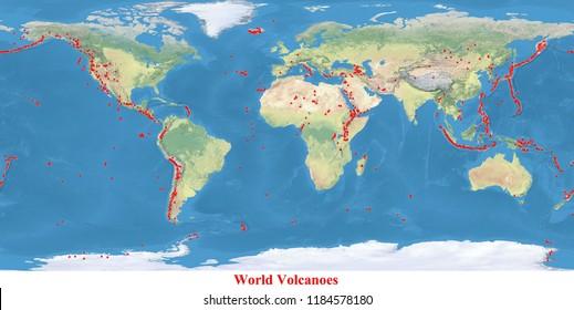 World Volcano Map Images Stock Photos Vectors Shutterstock