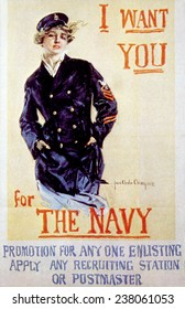 World War I American recuiting poster by Howard Chandler Christy, 1917