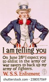 World War I American war savings poster by James Montgomery Flagg, 1918