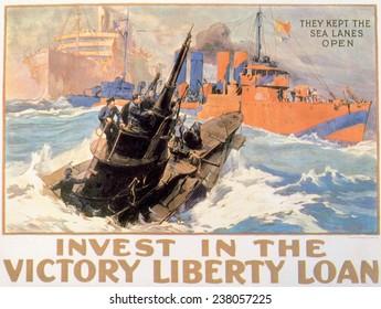 World War I, American war bonds poster, ca. 1917