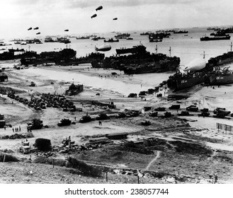 World War II Normandy Beachhead invasion France, June 6, 1944