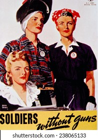 World War II, 'Soldiers without guns' poster, c, 1942.