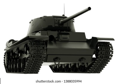 World War II Tank Isolated on White Background. 3D Rendering.