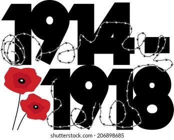 World War One dates