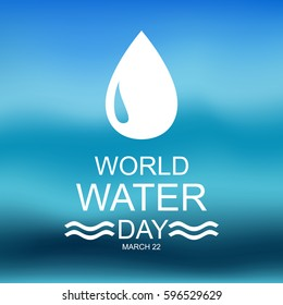 World water day. Card for your design.