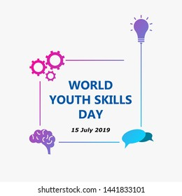World Youth skills day 2019, high quality. can be used in every project