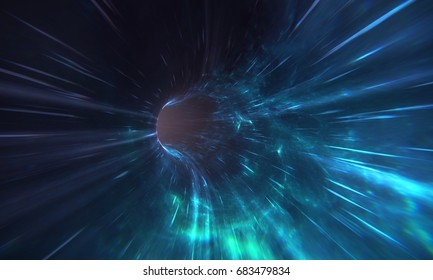 Wormhole 3D render