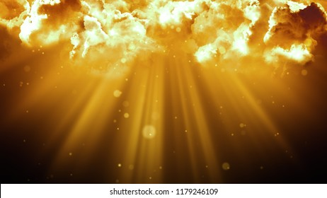 Worship and Prayer based cinematic clouds and light rays background loop in  resolution. Useful for divine, spiritual, fantasy concepts.