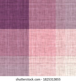 Woven cloth plaid background  pattern. Traditional checkered home decor linen cloth texture effect. Seamless soft furnishing fabric.  Variegated melange winter tartan weave all over print.