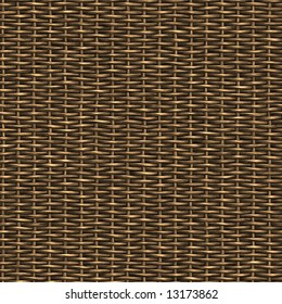 A woven wicker material you might see in some furniture or a basket.