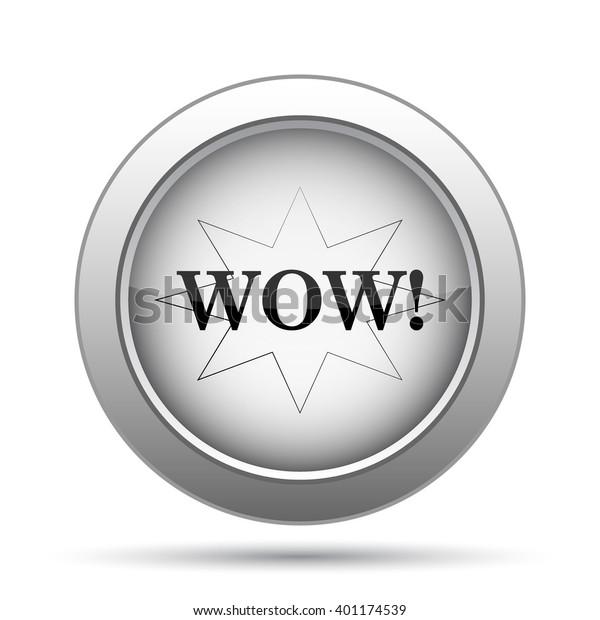 Wow Icon Internet Button On White Stock Illustration 401174539