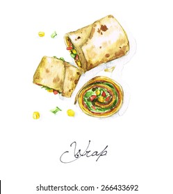 Wrap - Watercolor Food Collection