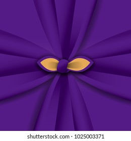 """Wrapping cloth illustration. Japanese Furoshiki. Furoshiki"""" are square shaped cloths used in Japan to wrap items and carry them. <Purple color cloth >  For respect."""