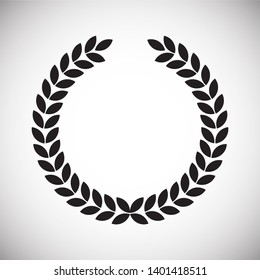 Wreath icon on background for graphic and web design. Simple illsutration. Internet concept symbol for website button or mobile app
