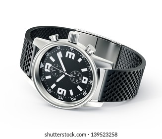 wrist watch isolated on a white background