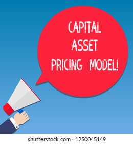 capital asset pricing model notes