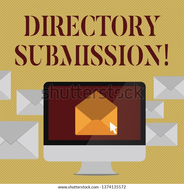 Writing Note Showing Directory Submission Business Stock