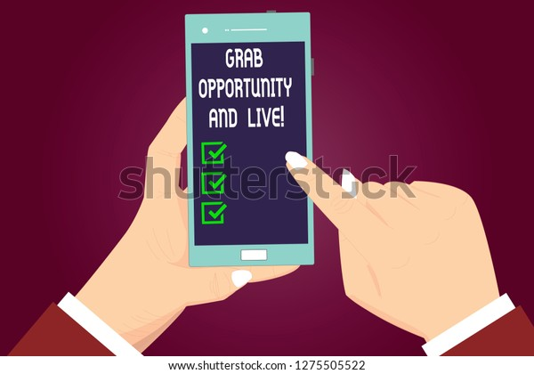 Writing Note Showing Grab Opportunity Live Stock Illustration 1275505522
