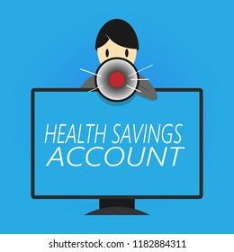 Writing note showing Health Savings Account. Business photo showcasing users with High Deductible Health Insurance Policy