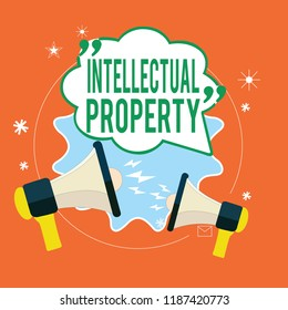Writing note showing Intellectual Property. Business photo showcasing Protect from Unauthorized use Patented work or Idea