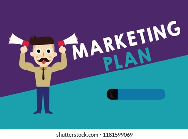 Writing note showing Marketing Plan. Business photo showcasing Comprehensive document of business activities and advertising