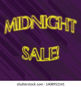 Writing note showing Midnight Sale. Business photo showcasing store will be open until midnight with big discount to items Seamless Diagonal Violet Stripe Paint Slanting Line Repeat Pattern.