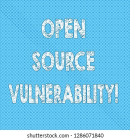 Writing note showing Open Source Vulnerability. Business photo showcasing Publicized Exploits are open to malicious users Seamless Polka Dots Pixel Effect for Web Design and Optical Illusion.