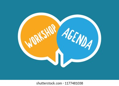 Writing note showing Workshop Agenda. Business photo showcasing helps you to ensure that your place stays on schedule