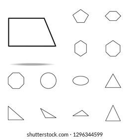 Wrong quadrilateral icon. Geometric figures icons universal set for web and mobile