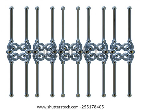 Wrought Iron Gate Door Fence Window Stock Illustration Royalty