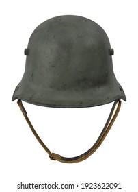 WWI German Helmet 3D illustration on white background