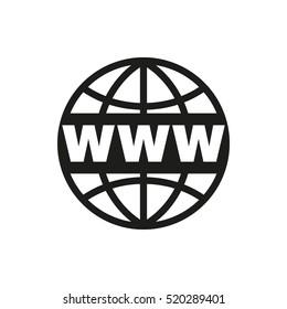 The WWW icon. SEO and browser, development symbol. UI. Web. Logo. Sign. Flat design App Stock