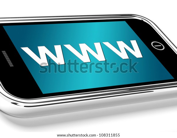 Www Showing Online Websites Or Mobile Internet