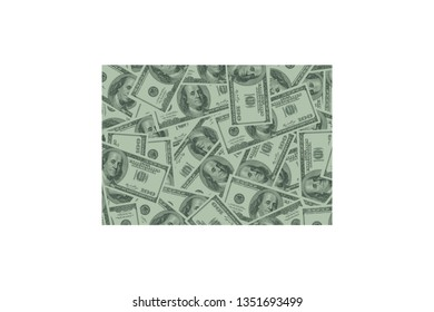 Wyoming State Map and Money Concept, Hundred Dollar Bills