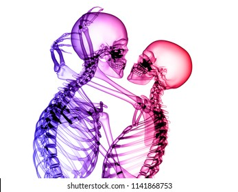X RAY COUPLE IN LOVE 3D RENDER
