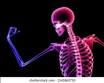 X RAY HUMAN BODY 3D RENDER