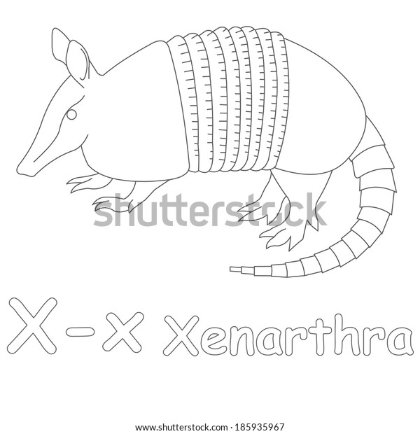 X for Xenarthra Coloring Page