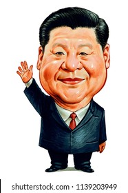 Xi Jinping is a Chinese politician currently serving as General Secretary of the Communist Party of China (CPC), President of the People's Republic of China. Caricature,Design,July,21,2018