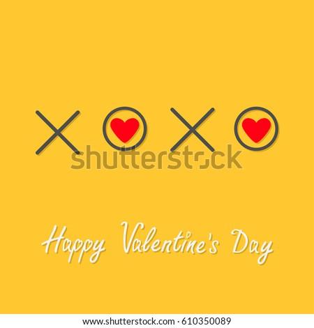 Xoxo Hugs Kisses Sign Symbol Mark Stock Illustration 610350089