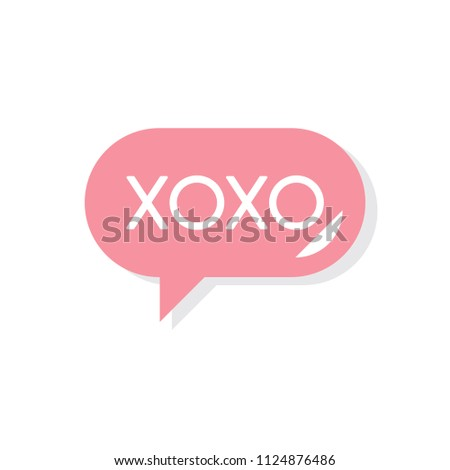 Xoxo Message Valentines Day Icon Stock Illustration 1124876486