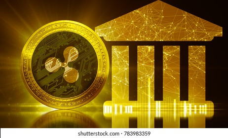 XRP Ripple coin secure global banking financial network blockchain crypto currency