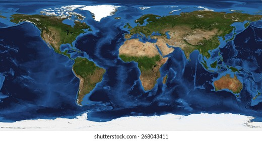 XXL size physical world map illustration. Primary source, elements of this image furnished by NASA. Extra large big map with highest detail avalable. 200 Mega Pixels resolution.